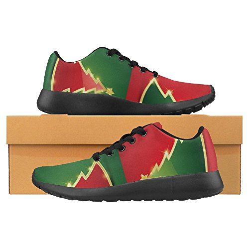 InterestPrint Womens Jogging Running Sneaker Lightweight Go Easy Walking Casual Comfort Sports Running Shoes Simple Golden and Glossy Christmas Tree Multi 1 ywU0n
