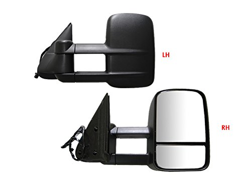 APS 1999-2002 Chevy/GMC Silverado/Sierra Power Heated Telescoping Towing Mirror Pair by APS