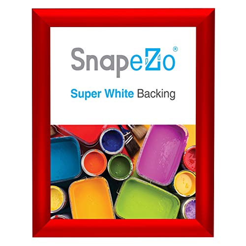 SnapeZo Photo Frame 8x10 Inches, Red 1 Inch Aluminum Profile, Front-Loading Snap Frame, Wall Mounting, Sleek Series