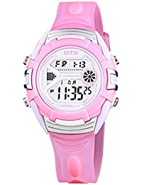 Happy Cherry Children Unisex Outdoor Sports Noctilucent Jelly Waterproof Digital Watches - Pink