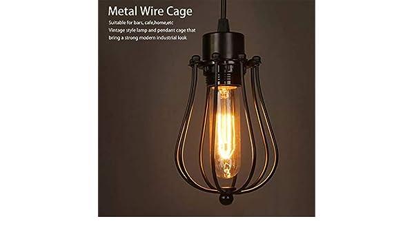 Industrial Vintage Antique Lamp Covers Colgante Araña Metal Wire ...
