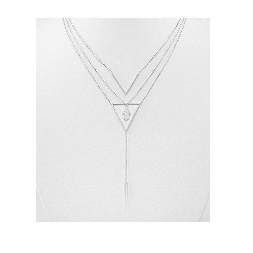 Couches en argent sterling cristal collier avec pendentif Khamsa