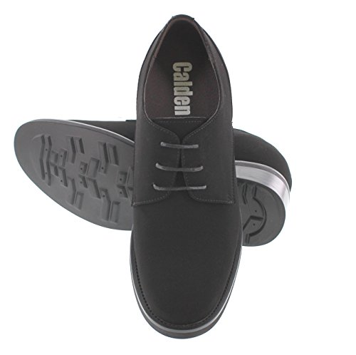 Calden T5103-4 Inches Taller - Height Increasing Elevator Shoes - Black Lace-up Casaul Shoes