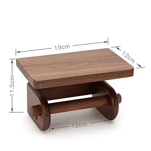 - Bathroom Fixtures Toilet Paper Holders Solid Wood Toilet roll Holder/Creative Rack Hanging Toilet Paper Holder 191211.5CM (Color : Brown)