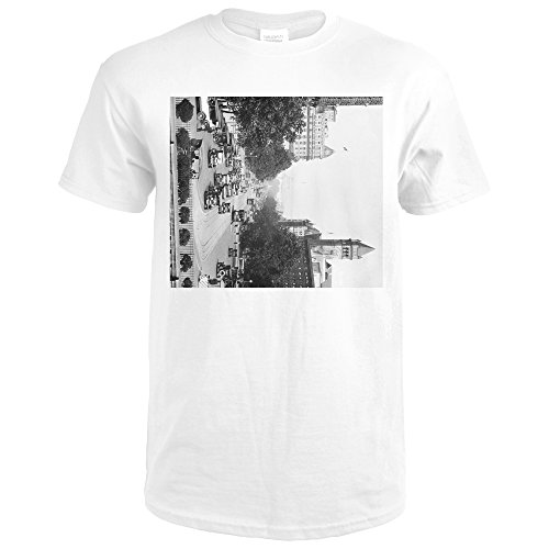 Pennsylvania Avenue from Treasury Building Photograph (Premium White T-Shirt XX-Large)