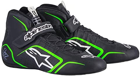 Black//Fluorescent Green, Size 12 Alpinestars TECH 1-Z Mens Shoes