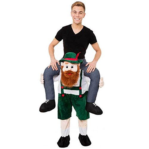 [Hot Carry Me Mascot Beer Guy Beer Ride On Mascot Piggy Back Carry Me Oktoberfest Fancy Party Dress Costume Halloween A15] (Hot Halloween Costumes For Guys)