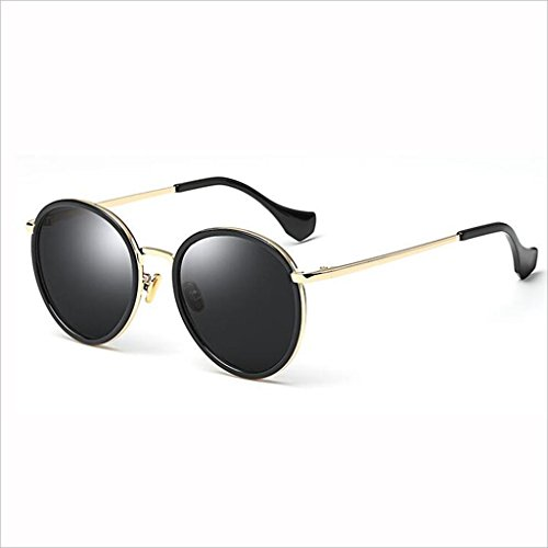 Gafas 400 UV 4 QZ 2 Color Retro polarizadas Sol Personality Fashion de HOME de Espejo Drive Gran Marco 5xwwFYqp