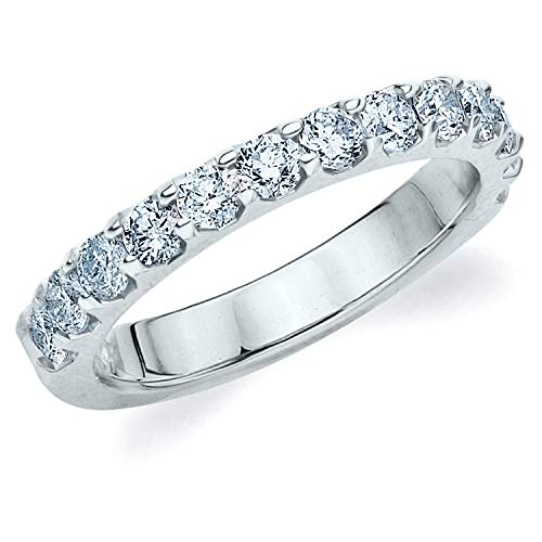 Legacy 1CT Diamond Ring, Genuine Diamond Wedding Anniversary Ring in 14K White Gold - Finger Size -