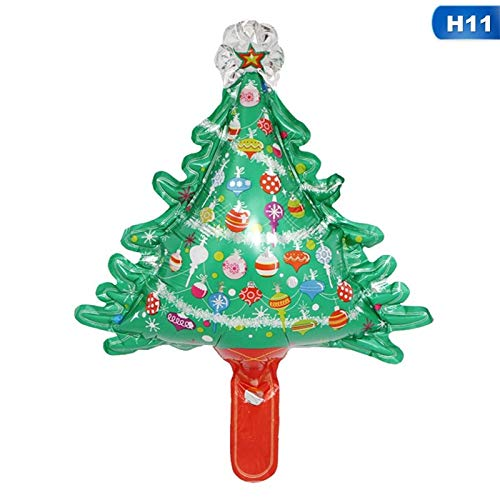 StrongLife Pendant & Drop Ornaments - Cute Christmas Tree Star Santa Claus Snowman Foil Balloons Xmas Home Party Decoration Inflatable Air Balloons Gift for Kids 1 PCs