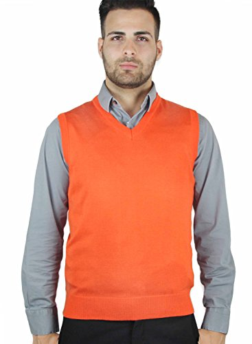 Mens Large Orange Sweater