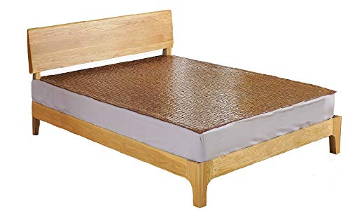 Qbedding Carbonized Bamboo Summer Sleeping Mat Cooling Mattress Topper Pad (Oriental, Queen) ()
