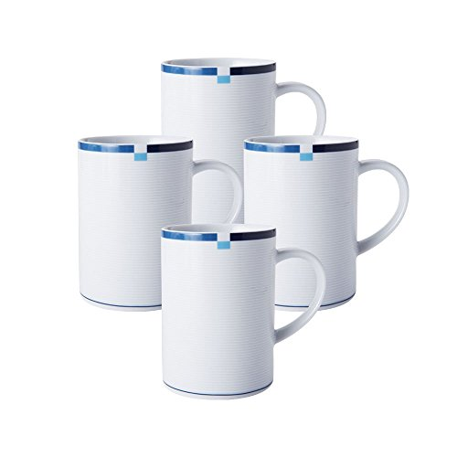 Mikasa Jet Set Blue Mug (12-Ounce, Set of 4)