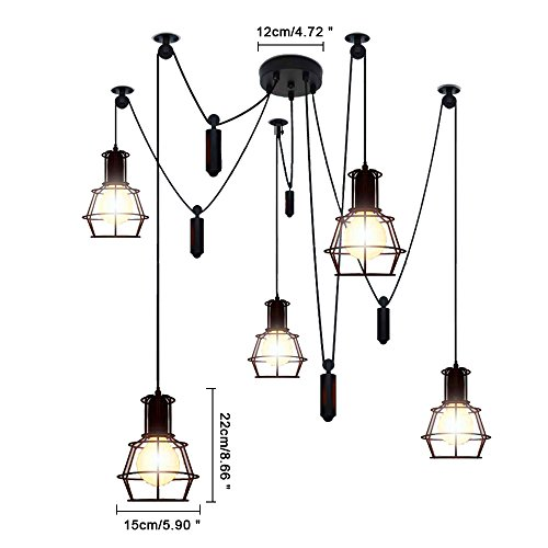 Crystal Oval Hanging Pendant Light - 9