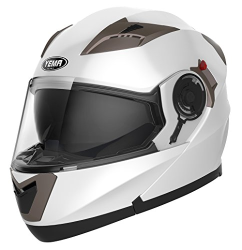YEMA Helmet Unisex Adult Motorcycle Racing Modular DOT YM-925 Street Bike Motorbike Crash Helmet with Sun Visor For Men Women