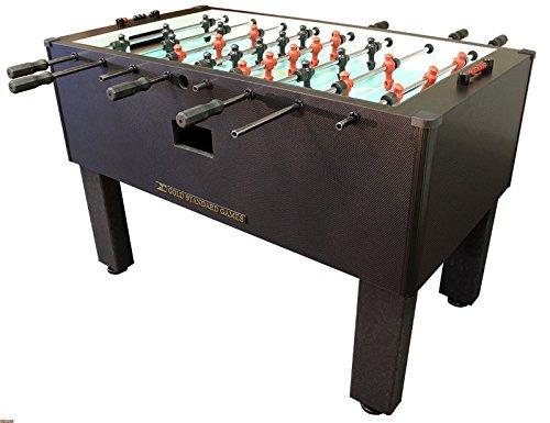 ゴールド標準Proテーブルサッカーテーブルゲームホーム(カーボンファイバー) B00URUXTQU