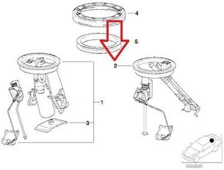 1995-1999 OEM BMW E36 3-Series Left Fuel Level Sending Unit Sensor From 2//95