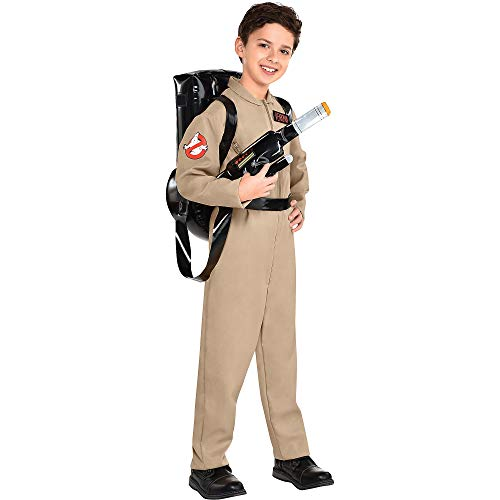 Party City Ghostbusters Costume with Proton Pack for Children, Size Small, Includes Jumpsuit with Zippers and Backpack]()