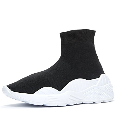 Jeffrey Campbell Lunix Noir Chaussette Sneaker