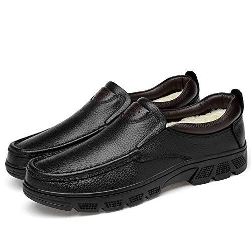 Formal EU Jusheng tamaño Classic Oxford Velvet Hombres Cómodo Top Black Warm Casual de Moda Opcional Black Low 43 Zapatos Warm Color Warm Gran para tamaño qwr7qB4O