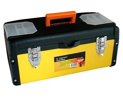 Professional Quality 19 (490mm) Rust Resistant Steel & Plastic Tool Box by Tooltime