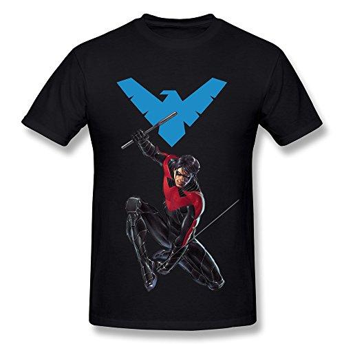 SHUNAN Men's Nightwing T-shirt Size XXL Black