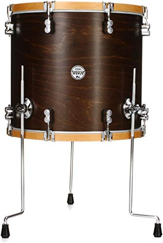 PDP Concept Maple Classic 16 X18 Inches Floor Tom - Walnut with Natural Hoops