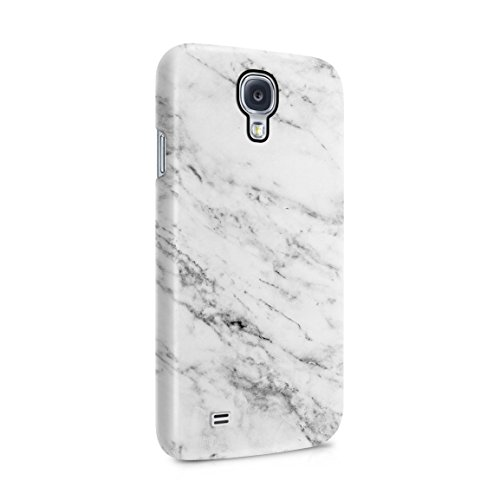 Solid White Original Marble Print Hard Plastic Phone Case For Samsung Galaxy S4 (Samsung Galaxy S4 Cases For Girls)