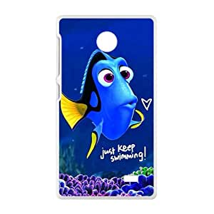 Lovely crystal blue fish Cell Phone Case for Nokia Lumia X