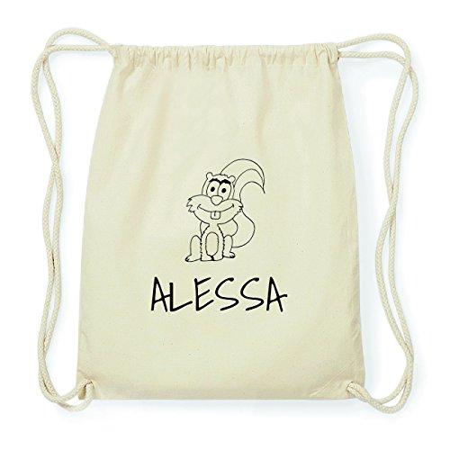 JOllipets ALESSA Hipster Turnbeutel Tasche Rucksack aus Baumwolle Design: Eichhörnchen