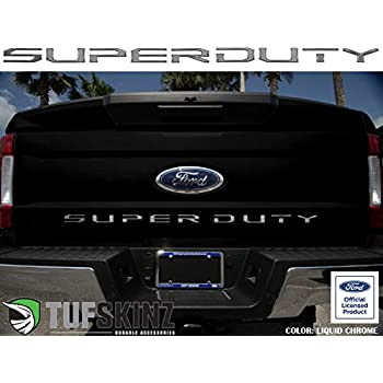 08-16 Ford Super Duty Grille Insert Letters Decal Hood Grill Carbon Fiber Matte