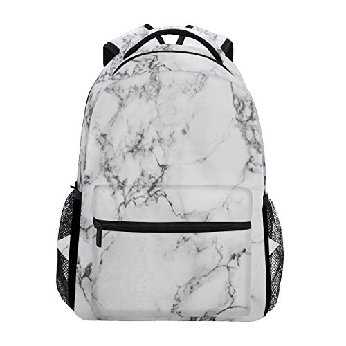 CPYang Marble Pattern Backpacks College School Bag Shoulder Casual Travel Daypack Hiking Camping