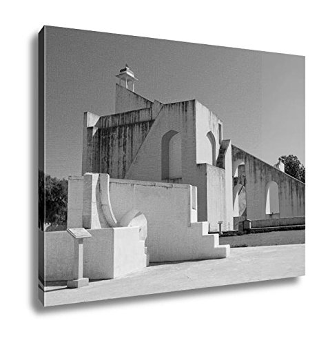Ashley Canvas Jantar Mantar Astronomical Observatory In Japiur India, Wall Art Home Decor, Ready to Hang, Black/White, 16x20, AG5961550 by Ashley Canvas (Image #4)