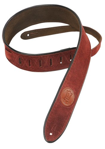 Levy's Leathers Suede Leather Guitar Strap ,Burgundy