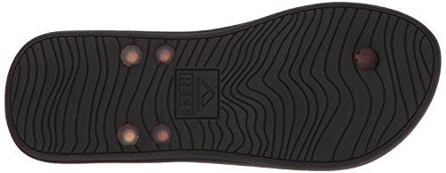 Reef Mens Switchfoot LX Prints Sandal Black/Brown/Tortoise KjE9S6P