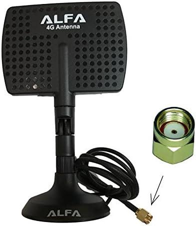 Genuine Alfa Panel Antena 2,4 GHz o 4 G con Base magnética RP ...