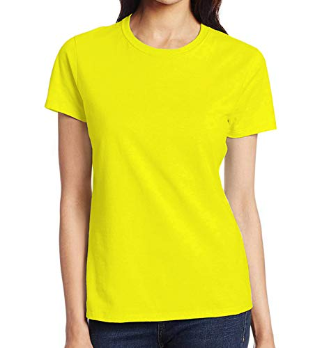 Miracle(Tm) Wicking High Visibility Sport Tshirt for Womens - Adult Yellow Neon Color Running Fitness Shirt (XS)