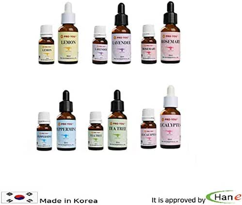 Korea Essential Natural 10ML Peppermint Lemon Tea-Tree Rosemary Lavender Eucalyptus (Peppermint)