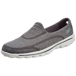 Skechers Performance Women's Go Walk 2 Super Sock Slip-On Walking Shoe,Old Charcoal,12 M US