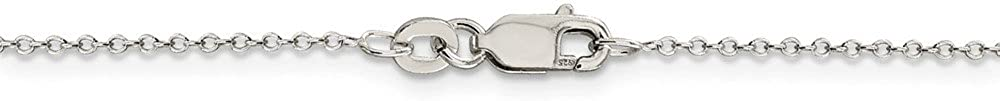 Jewel Tie 925 Sterling Silver 1mm Cable Chain with Secure Lobster Lock Clasp
