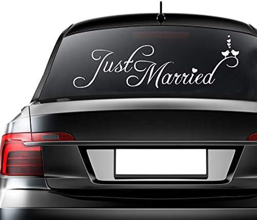 """/""""Just Married/"""" Spiegel zur Hochzeit f/ür Auto-Heck Dekoration f/ür Auto EQLEF/® Aufkleber Vinyl Wandaufkleber"""