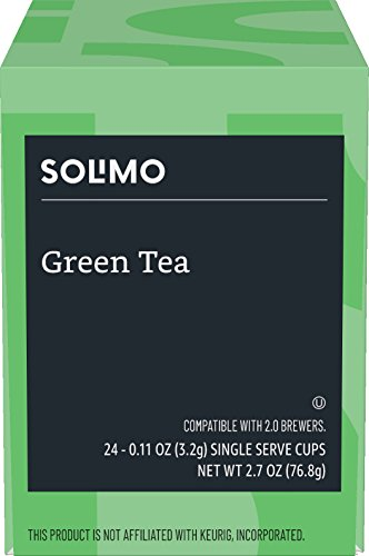 Amazon Brand – 24 Ct. Solimo Tea Pods, Green Tea, Compatible with 2.0 K-Cup Brewers