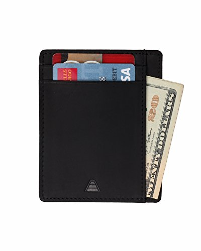 Andar Leather Slim Wallet, Minimalist Front Pocket RFID Blocking Card Holder
