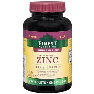 Finest Nutrition Great in extent Potency Zinc 50mg, 300 Ea Tablets