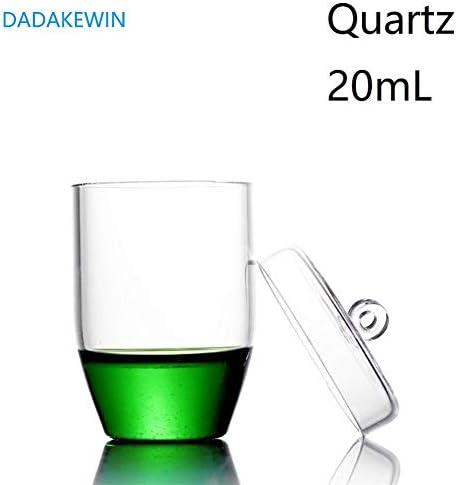 DADAKEWIN 20 Ml Quarztiegel Mit Oder Ohne Deckel Hochtransparente Laborchemiegeräte Mit Hoher Temperaturbeständigkeit (Capacity : No Lid)