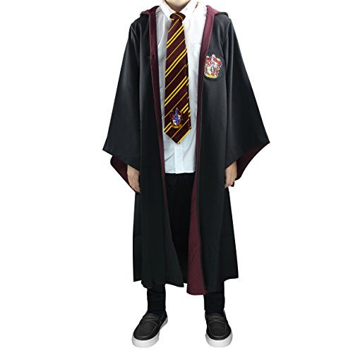 Harry Potter Authentic Tailored Wizard Robes Cloak by Cinereplicas, Gryffindor, Kids 8y to 10y (XS)
