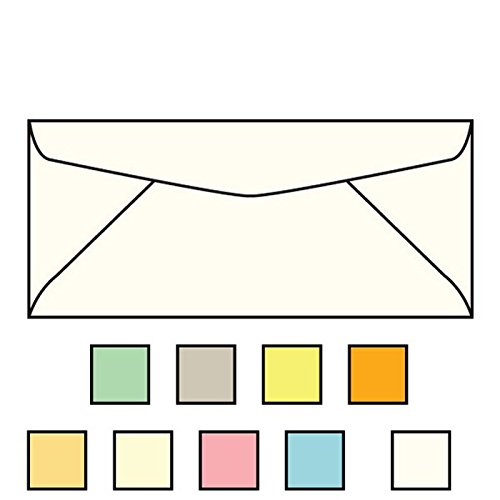 "#9 Regular Envelopes, 3-7/8"" x 8-7/8"", 24#, Recycled, Oyster Pastel, Acid Free, Diagonal Seam, No Window (Box of 500)"