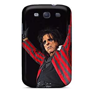 Shock-Absorbing Hard Phone Cover For Samsung Galaxy S3 With Custom Realistic Alice Cooper Band Skin AlainTanielian