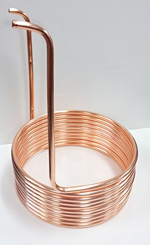 Quick Chill Home Brew Copper Immersion Wort Chiller, 25' by Quick Chill
