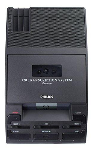 Digital Dictation Equipment - Philips LFH072052 720-T Desktop Analog Mini Cassette Transcriber Dictation System with Foot Control